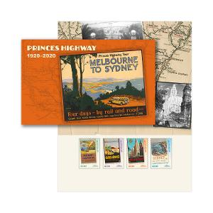 Princes Highway: 1920-2020 stamp pack product photo