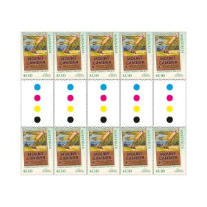Gutter strip of 10 x $1.10 Mount Gambier stamps product photo