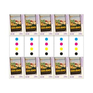Gutter strip of 10 x $1.10 Geelong stamps product photo