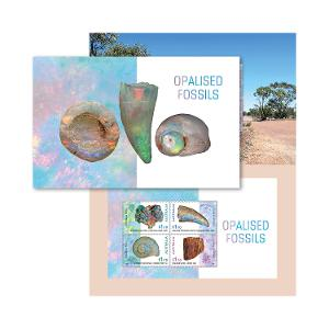 Opalised Fossils stamp pack product photo