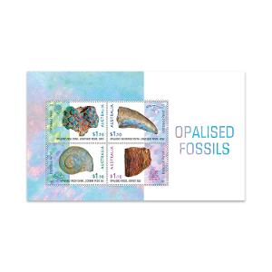 Opalised Fossils minisheet product photo