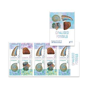 Booklet of 10 x $1.10 Opalised Fossils stamps product photo