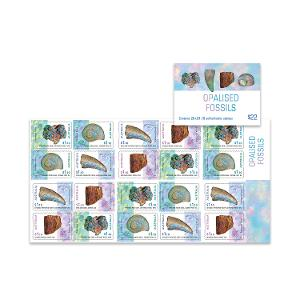 Booklet of 20 x $1.10 Opalised Fossils stamps product photo