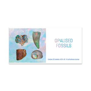 Chequebook of 20 x 20 x $1.10 Opalised Fossils stamps product photo