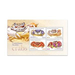 Christmas Island Crabs minisheet product photo