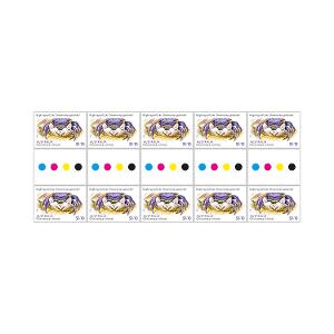 Gutter strip of 10 x $1.10 Bright-eyed Crab stamps product photo