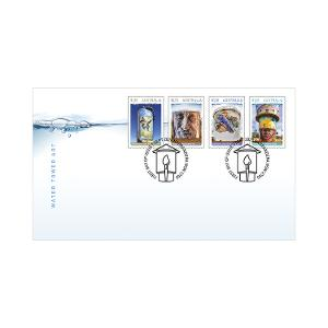 First day Water Tower Art gummed stamps cover product photo