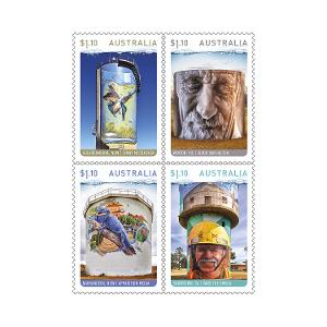 Set of Water Tower Art gummed stamps product photo