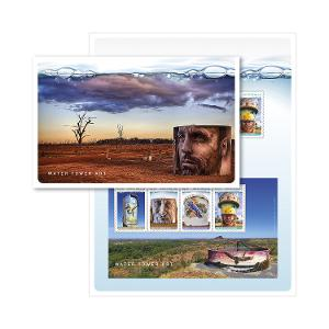 Water Tower Art stamp pack product photo