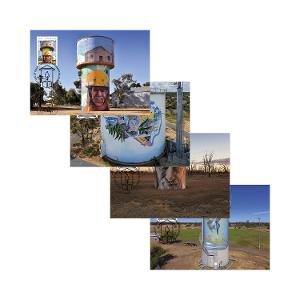 Set of Water Tower Art maxicards product photo