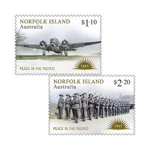 Set of Norfolk Island: Peace in the Pacific gummed stamps product photo