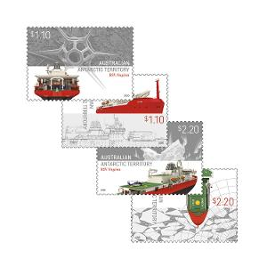 Set of AAT: RSV Nuyina gummed stamps product photo