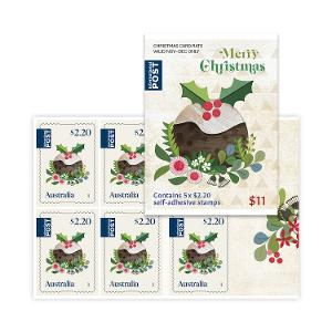 Sheetlet of 5 x $2.20 International Christmas rate stamps (Secular) product photo