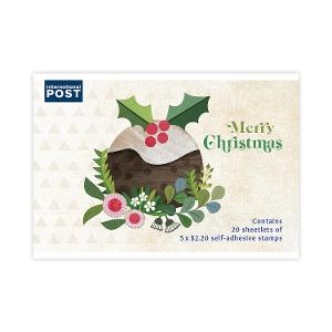 Chequebook of 20 x 5 x $2.20 International Christmas rate stamps (Secular) product photo
