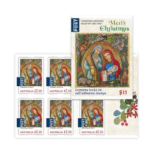 Sheetlet of 5 x $2.20 International Christmas rate stamps (Religious) product photo