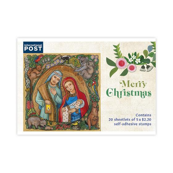 Religious Christmas Stamps 2020 Chequebook of 20 x 5 x $2.20 International Christmas rate stamps