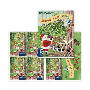 Sheetlet of 5 x $2.20 Rudolph International Christmas rate stamps product photo