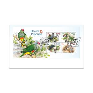 First Day Doves and Pigeons Minisheet Cover product photo