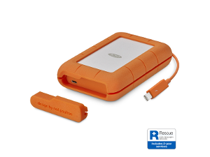 LaCie Rugged Thunderbolt & USB-C Portable Drive - 5TB product photo