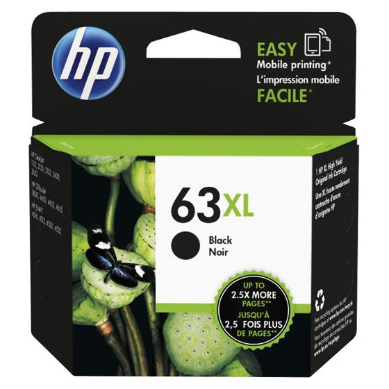 HP 63XL High Yield Black Ink Cartridge product photo Internal 2 DETAILS