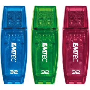 Emtec C410 32GB USB2.0 Flash Drives - 3 Pack product photo
