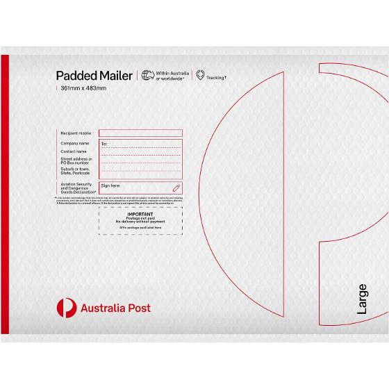 Padded Mailer - Large - 483 x 361mm - 60 pack product photo Internal 1 DETAILS