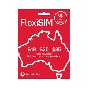 Australia Post FlexiSIM product photo