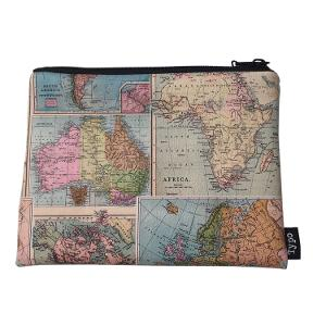 Typo PU Campus Pencil Case - Map product photo