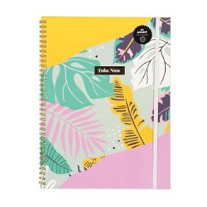 Typo A4 Spinout Notebook - Jungle Floral product photo