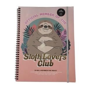 Typo A4 Recycled Spinout Notebook -  Sloth Lovers Club product photo