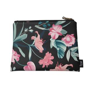 Typo PU Campus Pencil Case - Dark Floral product photo