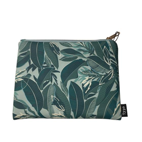 Typo PU Campus Pencil Case - Foliage product photo Internal 2 DETAILS