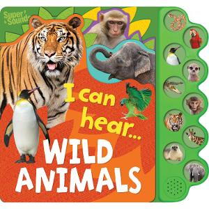 10 Button Sound Books - I can hear Wild Animals product photo