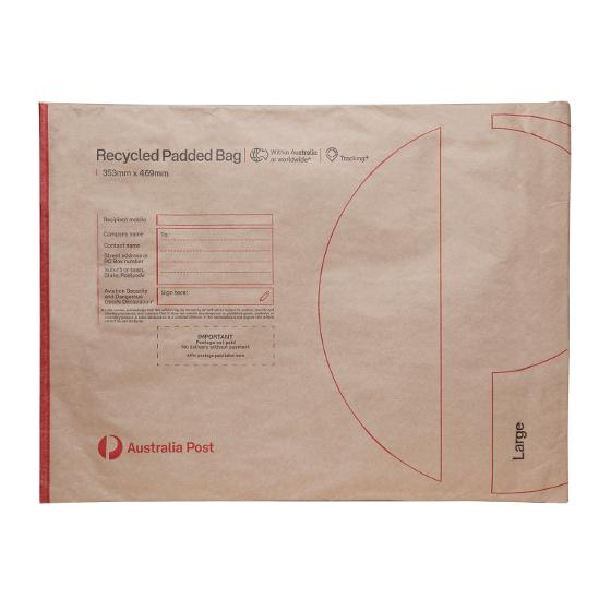 Recycled Padded Bag - Large - 353 x 469mm - 50 pack product photo Internal 1 DETAILS