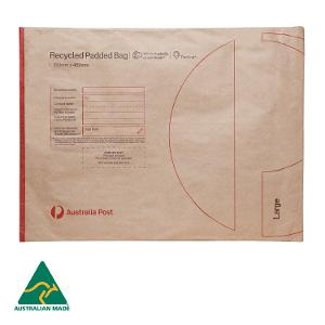 Recycled Padded Bag - Large - 353 x 469mm - 50 pack product photo