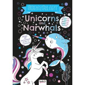 Scratch Off Colouring Book - Unicorns & Narwhals product photo