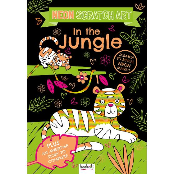 Scratch Off Colouring Book - In the Jungle product photo Internal 1 DETAILS
