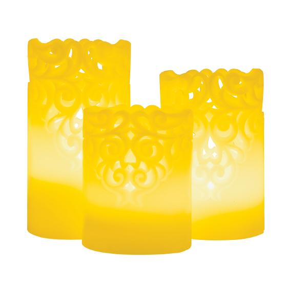 Candle light 3PK product photo Internal 1 DETAILS