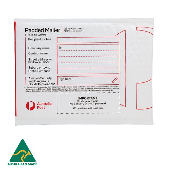 Padded Mailer (PM1) - 151 x 229mm - 100 pack product photo Internal 1 DETAILS