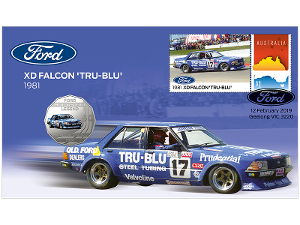 Ford 1981 XD Falcon 'Tru-Blu' postal numismatic cover product photo