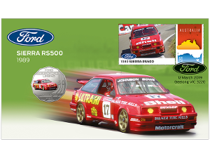 Ford 1989 Sierra RS500 postal numismatic cover product photo