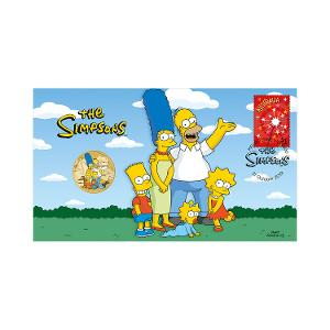 The Simpsons postal numismatic cover product photo