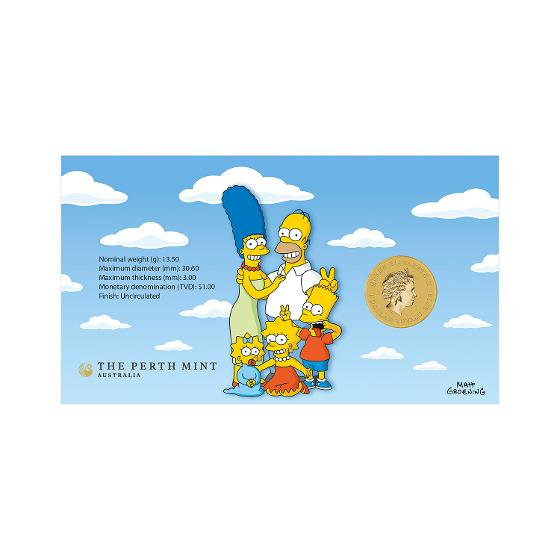The Simpsons postal numismatic cover product photo Internal 2 DETAILS