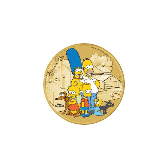 The Simpsons postal numismatic cover product photo Internal 3 DETAILS