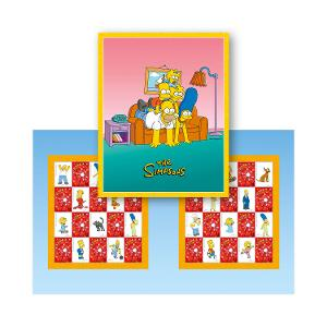 The Simpsons stamp pack product photo