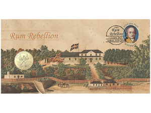 The Rum Rebellion postal numismatic cover product photo
