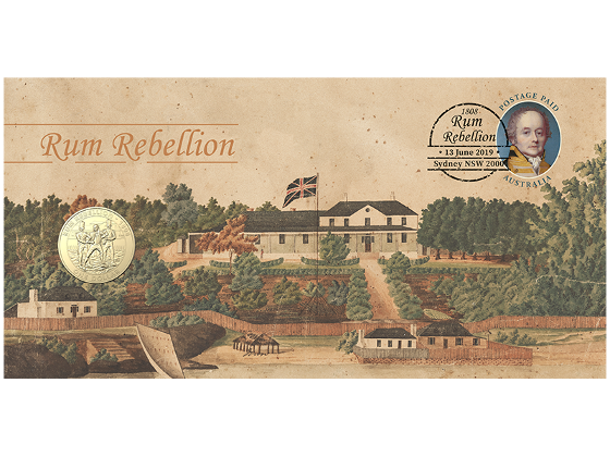 The Rum Rebellion postal numismatic cover product photo Internal 1 DETAILS