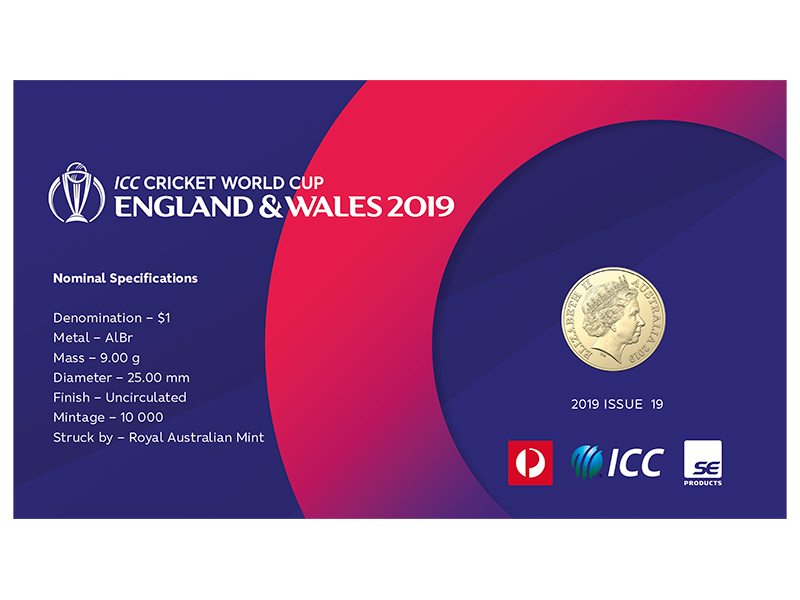 Cricket World Cup postal numismatic cover