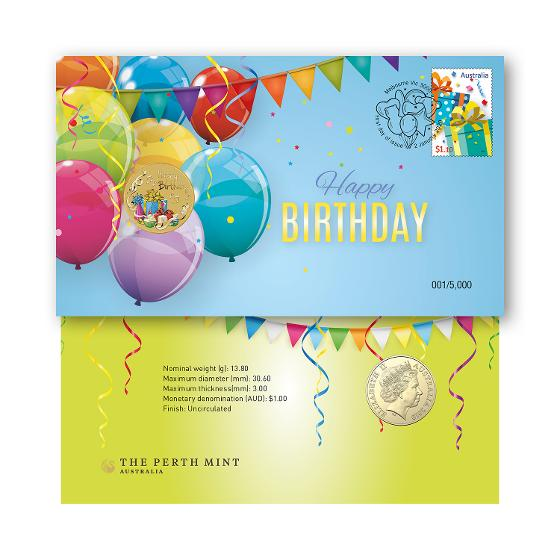 Happy Birthday 2020 postal numismatic cover product photo Internal 1 DETAILS