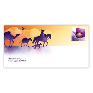 Remembering Animals in War postage paid envelope product photo